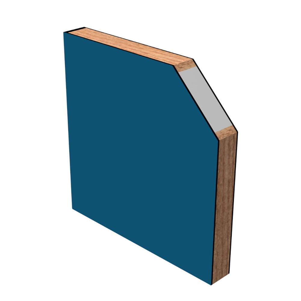 Canto madera con núcleo de poliestireno
