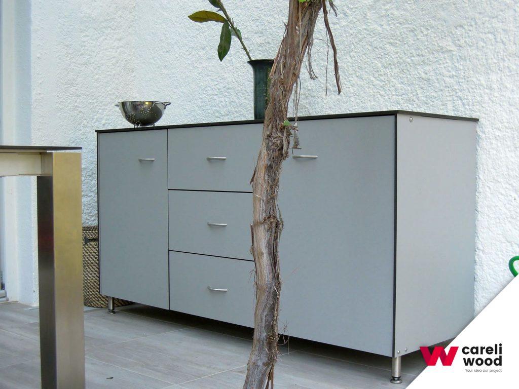 Mobiliario fenólico para exteriores
