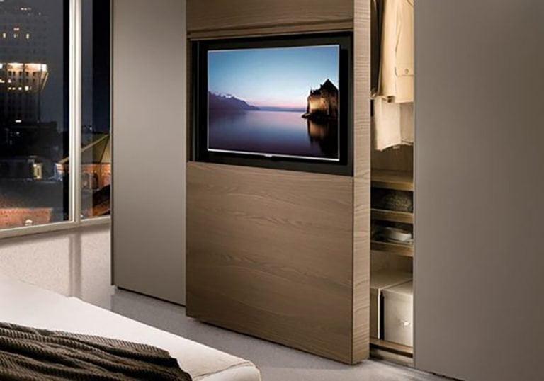 muebles fenólicos de tv para hoteles