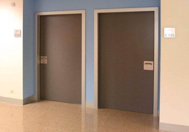 Puertas fenólicas HPL Grises