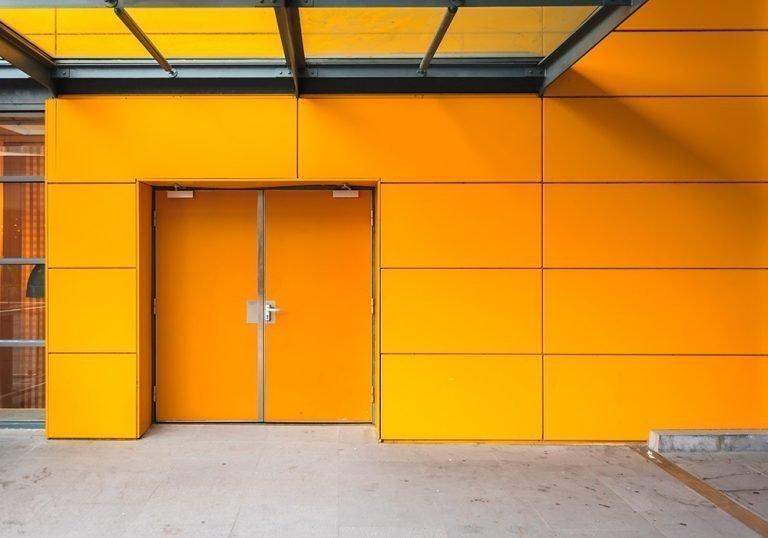 Puertas cortafuegos RF amarillas