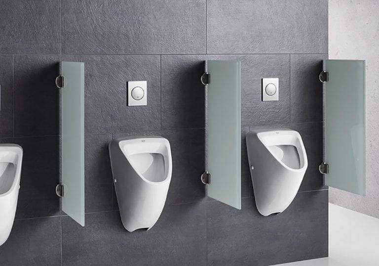 Separadores urinarios de vidrio